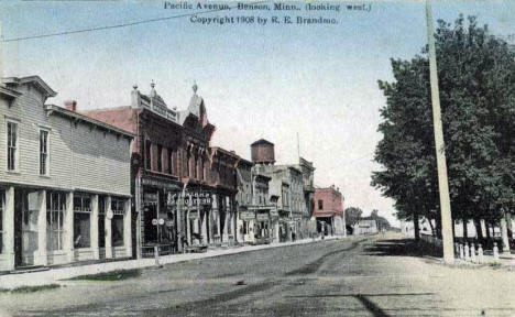 Pacific looking west, Benson Minnesota, 1908