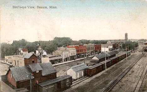 Birds eye view, Benson Minnesota, 1908