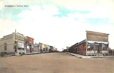 Main Street, Bertha Minnesota, 1909
