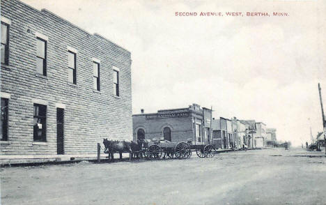 Second Avenue West, Bertha Minnesota, 1919