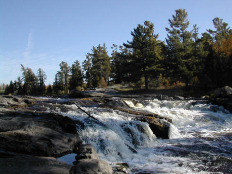 Falls on the Bigfork River in Big Falls Minnesota