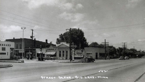 Street Scene, Big Lake Minnesota, 1950's