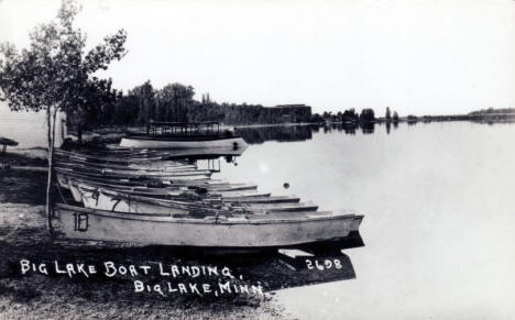 Boat Landing, Big Lake Minnesota, 1920's