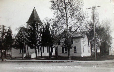 Union Church and Parsonage, Big Lake Minnesota, 1913