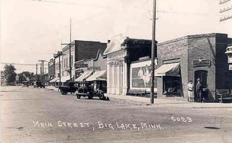 Main Street, Big Lake Minnesota, 1920's