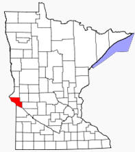 Location of Big Stone County Minnesota