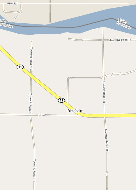 Map of the Birchdale Minnesota area
