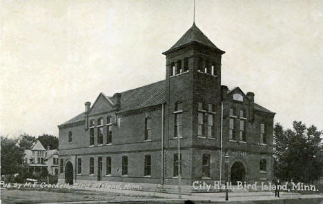 City Hall, Bird Island Minnesota, 1914
