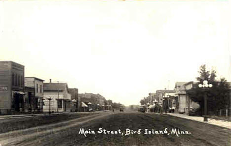 Main Street, Bird Island Minnesota, 1915