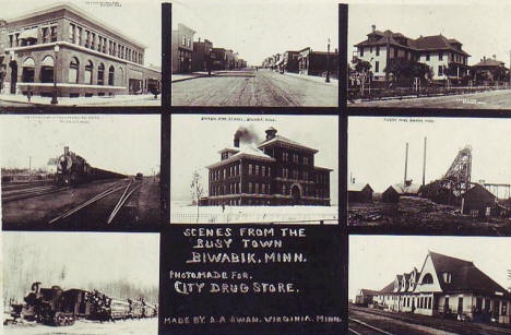 Multiple scenes, Biwabik Minnesota, 1914
