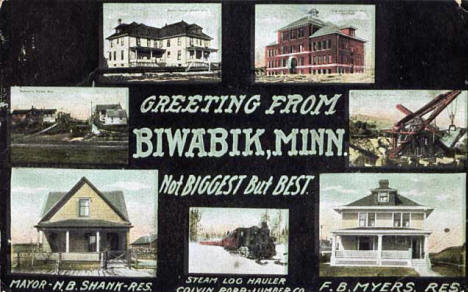 Multiple views of Biwabik Minnesota, 1908