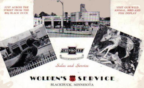 Wolden's Phillips 66 Service, Blackduck Minnesota, 1950's