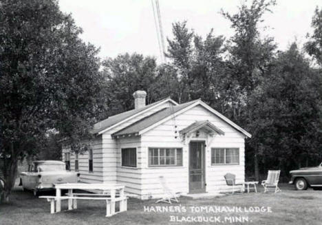 Harner's Tomahawk Lodge near Blackduck Minnesota, 1950's