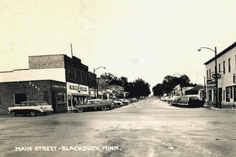 Main Street, Blackduck Minnesota, 1958