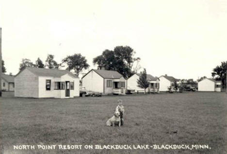 North Point Resort on Blackduck Lake, Blackduck Minnesota, 1950's