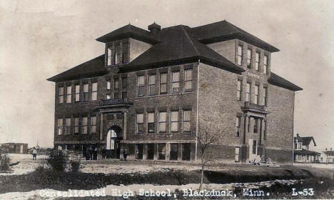 Consolidated High School, Blackduck Minnesota, 1920's