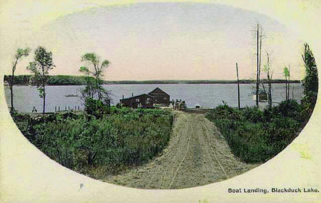 Boat landing, Blackduck Lake, 1914