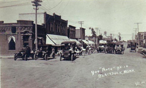 Street scene, Blackduck Minnesota, early 1910's