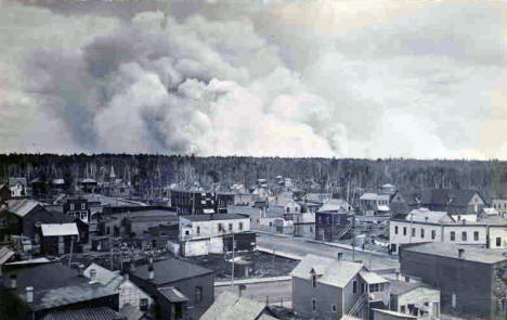 Forest Fires approaching Blackduck, September 1930