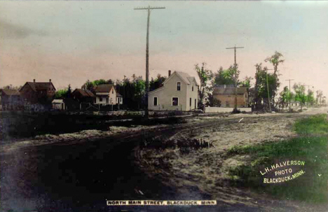 North Main Street, Blackduck Minnesota, 1910's?