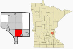 Location of Blaine Minnesota