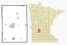 Location of Blomkest Minnesota