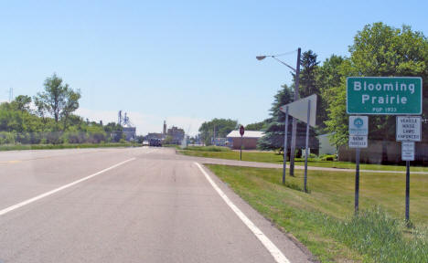 Entering Blooming Prairie from the north on Highway 218, 2010