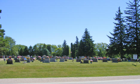 Cemetery on south end of town, Blooming Prairie Minnesota, 2010