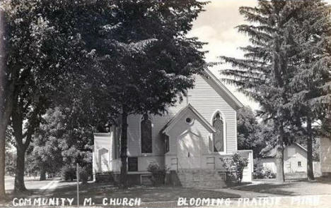 Community Methodist Church, Blooming Prairie Minnesota, 1940's
