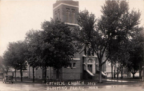 Catholic Church, Blooming Prairie Minnesota, 1930's?