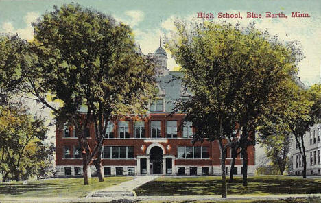 High School, Blue Earth Minnesota, 1910's