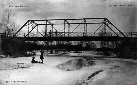 Bridge over the Blue Earth River, Blue Earth Minnesota, 1909