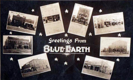 Multiple scenes, Blue Earth Minnesota, 1908