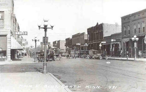 Main Street, Blue Earth Minnesota, 1927