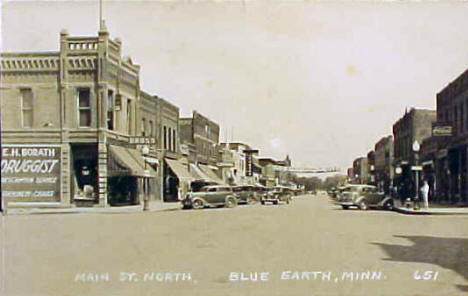 Main Street North, Blue Earth Minnesota, 1930's?