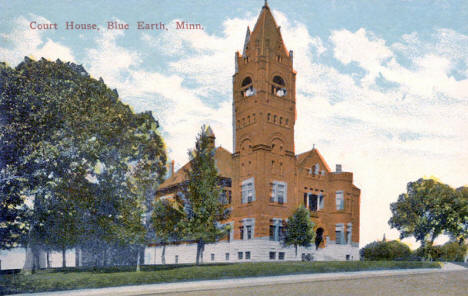 Court House, Blue Earth Minnesota, 1910's