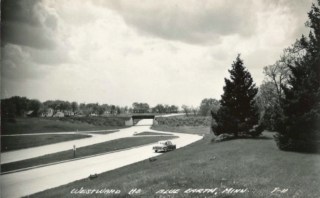 US Highway 16, Blue Earth Minnesota, 1950's