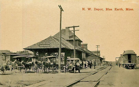 Northwestern Depot, Blue Earth Minnesota, 1910's