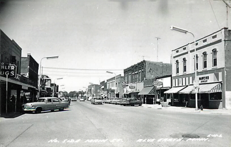 North side of Main Street, Blue Earth Minnesota, 1960's