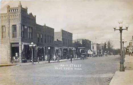 Main Street, Blue Earth Minnesota, 1910's?