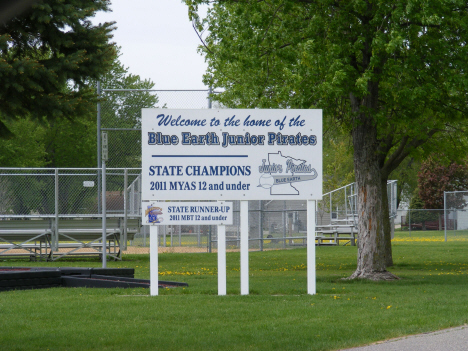 Blue Earth Junior Pirates State Championship sign, Blue Earth Minnesota, 2014