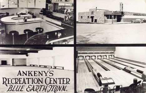 Ankeny's Recreation Center, Blue Earth Minnesota, 1940's