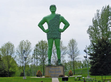 Green Giant statue, Blue Earth Minnesota, 2014
