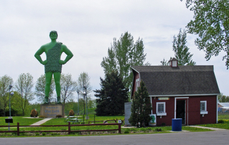 Green Giant Statue and Museum, Blue Earth Minnesota. 2014