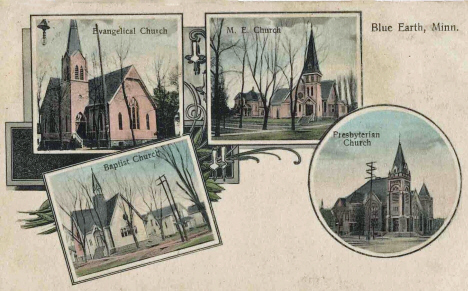 Churches, Blue Earth Minnesota, 1911