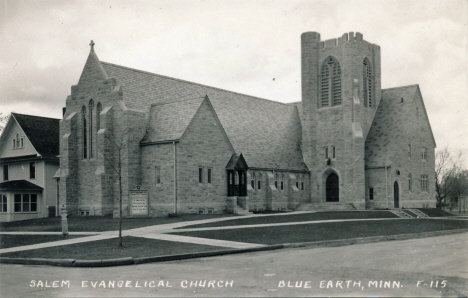 Salem Evangelical Church, Blue Earth Minnesota, 1950's?