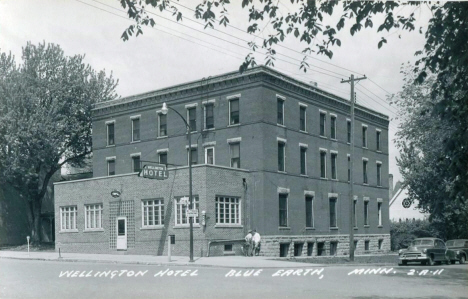 Wellington Hotel, Blue Earth Minnesota, 1950's