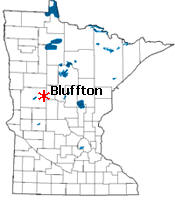 Location of Bluffton Minnesota