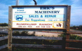 Eric's Machinery Sales, Bluffton Minnesota
