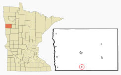 Location of Borup, Minnesota